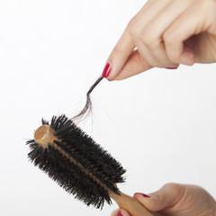 Haarbündel in Haarbürste