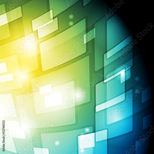 Bright abstract hi-tech background. Vector template eps 10