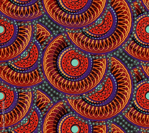 Deurstickers Kunstmatig Seamless african geometric pattern