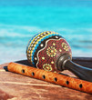Maracas and fife with a sea background - 53766709