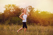 fitness woman sport blonde running runner girl nature lifestyle