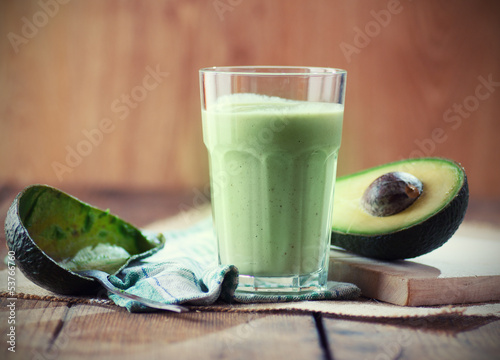 Leinwandbild Motiv Avocado smoothie
