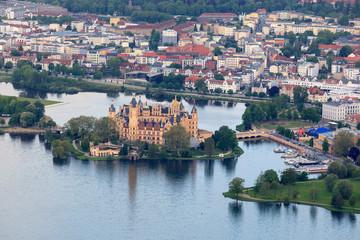 Schweriner Schloß und Zentrum von Schwerin