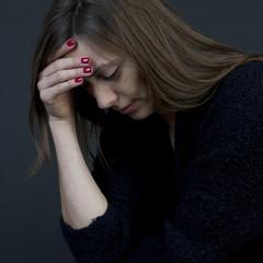 Frau verzweifelt