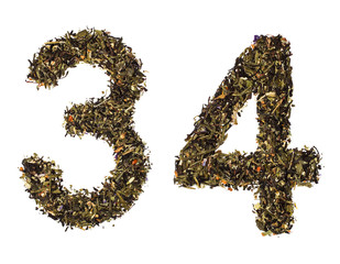 The numbers from green tea with herbs