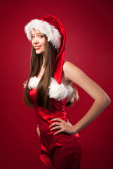 Portrait of santa woman