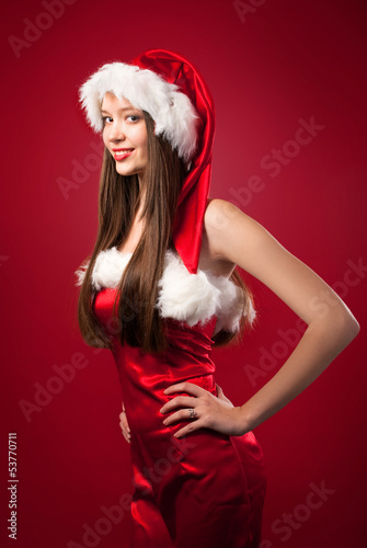 Portrait of santa woman