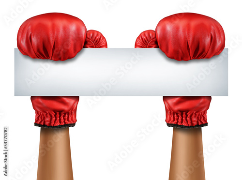 Boxing Gloves Blank Sign