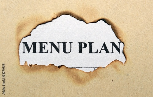 Menu plan on paper hole
