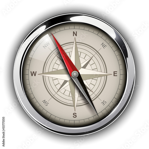 Compass with windrose