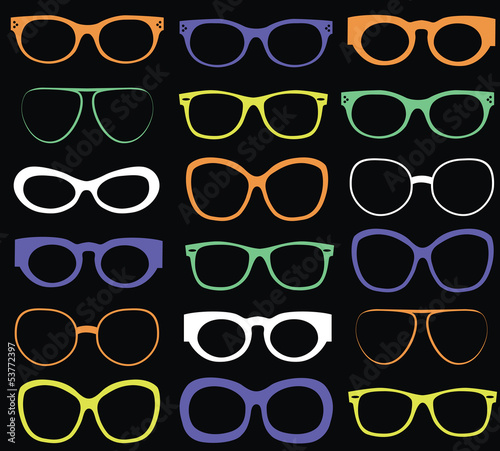 Background from colorful sunglasses