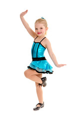 Cute and Sassy Child Tap Dancer in Costume