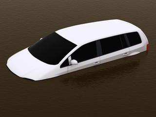 Überflutedes Auto