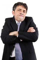 Businessman with a speculative expression