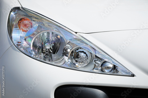 Modern car headlight design.