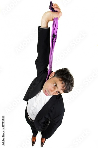 Businessman committing suicide