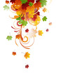 Vector Illustration of an Autumn Background with Leafs