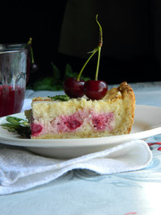 Cheese cake with cherry