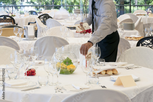 Waiter in a luxury restaurant