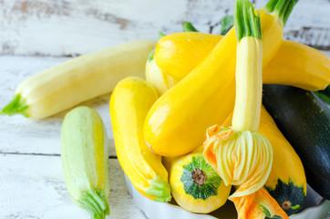 .Fresh zucchini