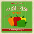 Vintage farm fresh peppers poster