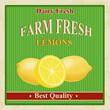 Vintage farm fresh lemons poster