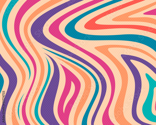 Vector Illustration of a Colorful Striped Background