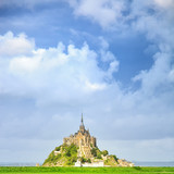 Mont Saint Michel monastery landmark. Normandy, France