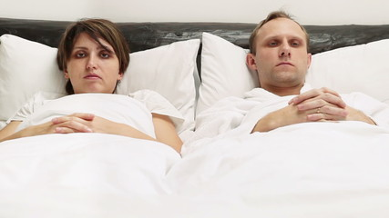 Crazy Couple in bed Loudly laughing