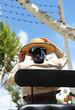 Feria de Sevilla, mujer con sombrero cordobés