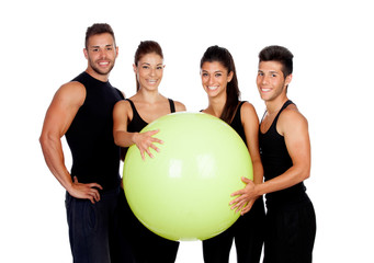 Group of gym people