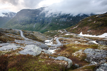 Trollstigen road in Geiranger, Norway
