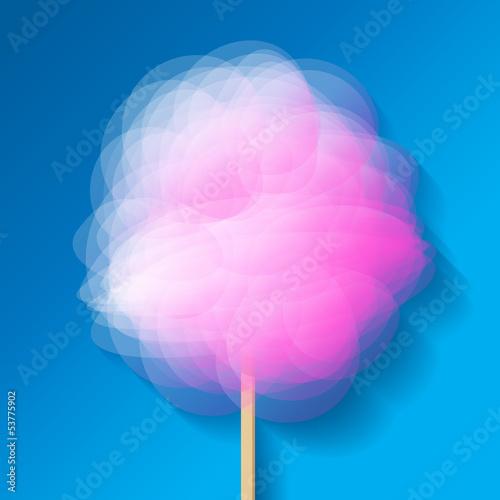 Zuckerwatte Rosa Hintergrund Himmel Blau
