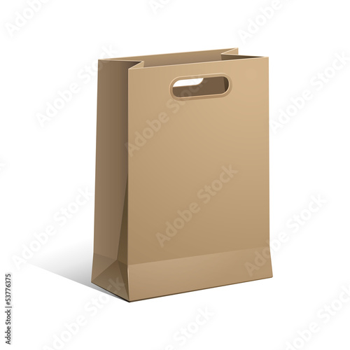 Carrier Paper Bag Brown Empty Vector EPS 10