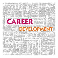 Word cloud for business and finance concept, Career Development