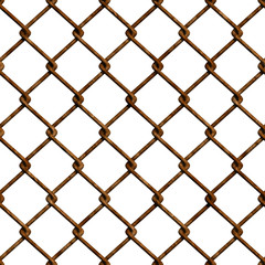 Rusty fence (Seamless texture)