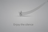 Enjoy the silence-vector illustration