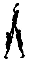 Rugby Lineout Jumper Support Silhouette