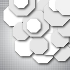Octagon empty background - blank quadrat vector design