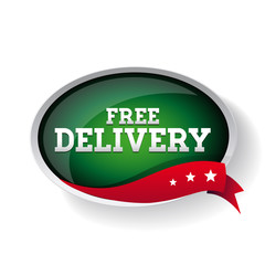 Free delivery sign button