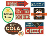 Retro Soda Labels