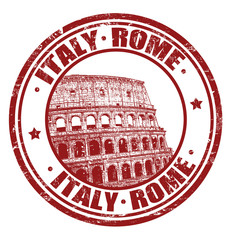 Italy, Rome stamp