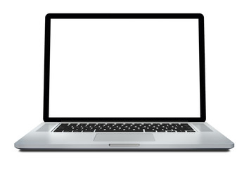3d render Laptop isolated on white