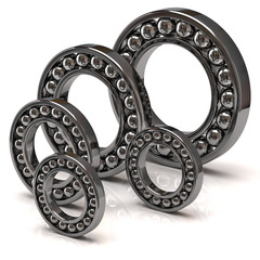 Illustration of ball bearings