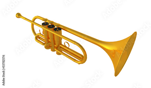 Isolated polished 3d trumpet