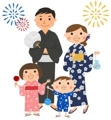 花火大会と家族
