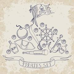 Pirates set vintage