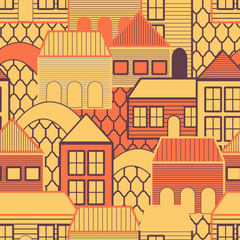 Abstract texture with houses