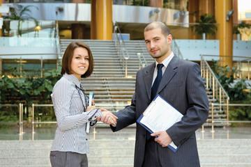 Business people's handshake
