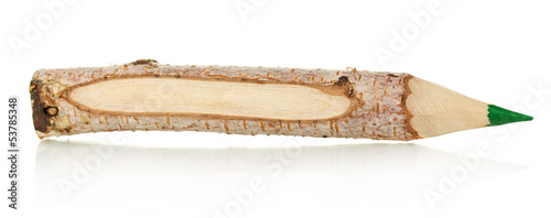 Colorful wooden pencil isolated on white